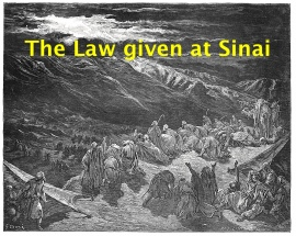 Law given at Sinai