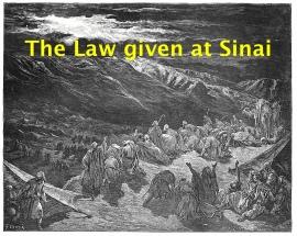 Law given at Sinai