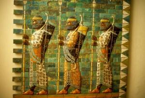 Babylonian archers in Berlin Museum