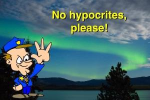 No hypocrites