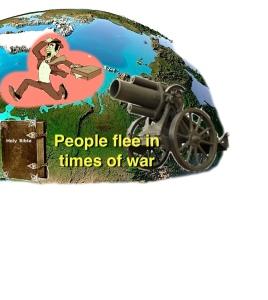 People flee in war 2