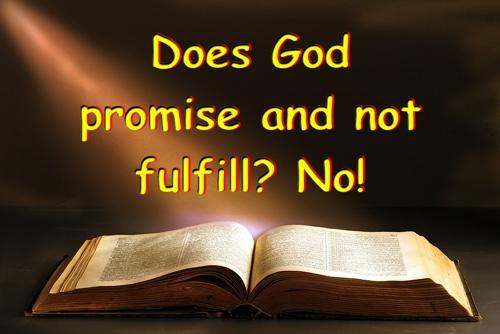 Did God promise Himself into acorner?